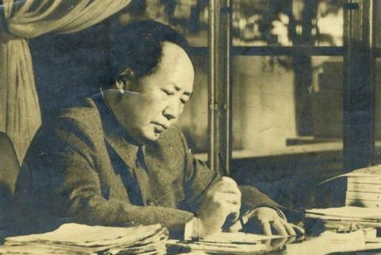 寫信封的毛澤東,霸氣!